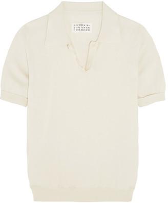 Maison Margiela - Cotton Polo Shirt - Cream $455 thestylecure.com