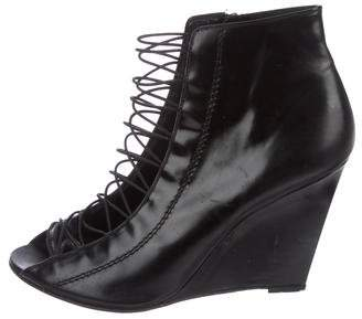 Givenchy Leather Lace-Up Booties