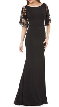 Carmen Marc Valvo Novelty Lace Gown