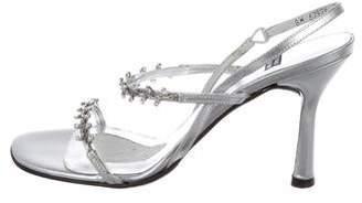 Stuart Weitzman Embellished Slingback Sandals