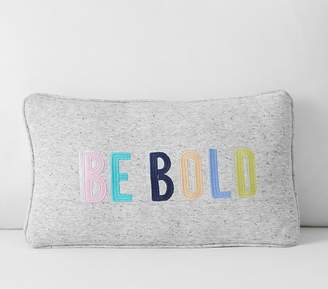 Pottery Barn Kids Be Bold Pillow, 12x24, Gray