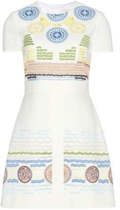 Peter Pilotto Iro embroidered crêpe dress