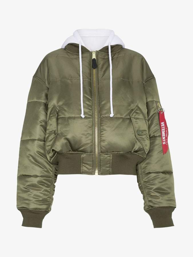 X Alpha Industries Quilted Reversible Bomber Jacket