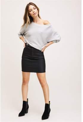 Dynamite Lola Dolman Sleeve Sweater Grey Melange