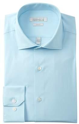 Perry Ellis Woven Slim Fit Tech Shirt