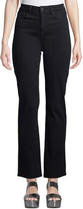 NYDJ Marilyn Straight-Leg Bling-Pocket Jeans, Black