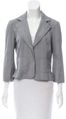Diane von Furstenberg Plaid Notch-Lapel Blazer