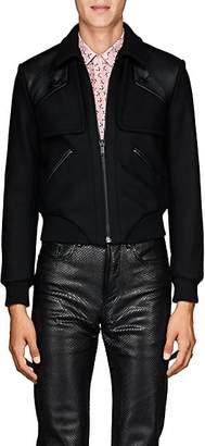 Saint Laurent Men's Wool Melton Jacket - Black