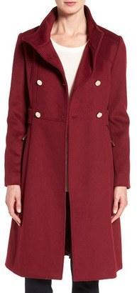 Women's Eliza J Wool Blend Long Military Coat $228 thestylecure.com
