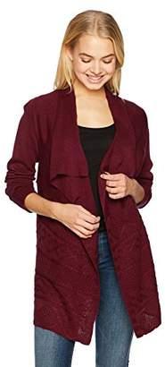 Amy Byer A. Byer Junior's Long Sleeve Flyaway Cardigan Sweater (Junior's)
