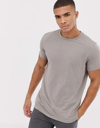 Asos Design DESIGN organic t-shirt with crew neck in grey