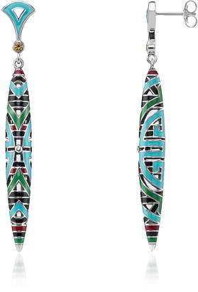 Thomas Sabo Blackened Sterling Silver, Glass-ceramic Stones Pendant Earrings