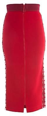 Fendi Women's Zip Front Stretch Cady Pencil Skirt