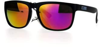 Revo Kush Lens Rectangular Keyhole Sport Sunglasses Purple