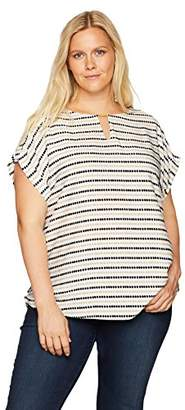 77925091c45 at Amazon.com · Calvin Klein Women s Plus Size Printed Top with Bar Hardware