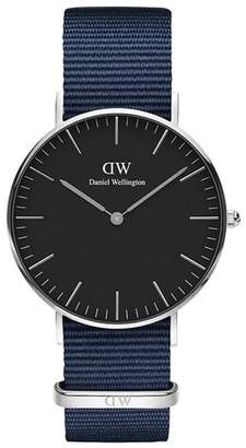 Daniel Wellington Classic Roselyn Nylon Strap Watch, 36mm