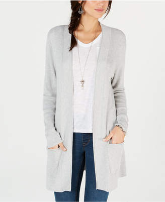 Style&Co. Style & Co Long Thermal-Stitch Cardigan Sweater