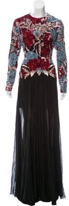 Elie Saab Embellished Silk Dress w/ Tags