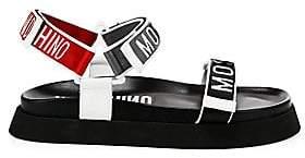 Moschino Men's Logo Flat Slingback Sandals