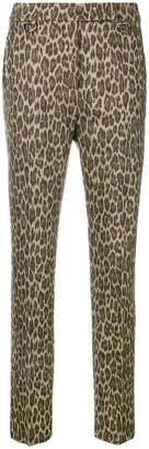 Max Mara skinny leopard print trousers