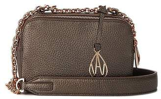 Amanda Wakeley Bronze Leather Chain Crossbody Bowie Bag