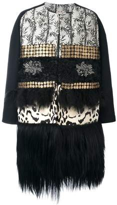 Antonio Marras oversize fur trim coat