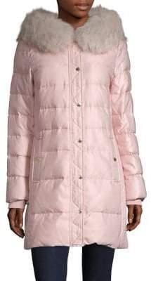 Kate Spade Faux Fur-Trimmed Puffer Jacket