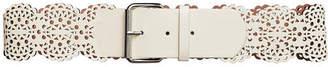 BCBGMAXAZRIA Laser-Cut Faux-Leather Belt