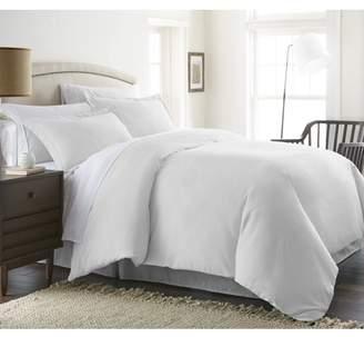 Noble Linens Premium Ultra Soft 3 Piece Solid Duvet Cover Set