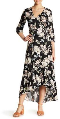 Love Stitch Floral Print Maxi Dress