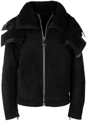 Les Hommes structured shearling jacket