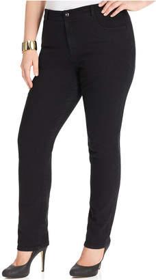 Style&Co. Style & Co Plus & Petite Plus Size Tummy Control Straight-Leg Jeans