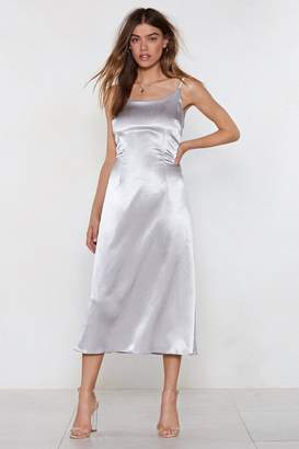 Nasty Gal Into Heavy Metallics Slip Dress
