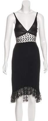 Chanel Rib Knit Sleeveless Dress