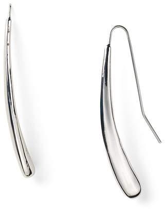 Robert Lee Morris Soho Silver Tear Drop Pull Through Earrings