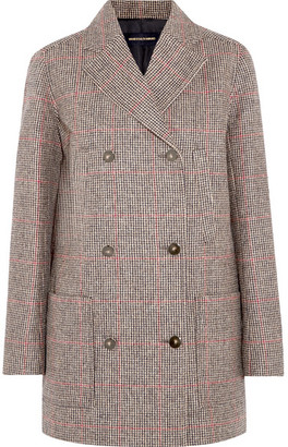 Vanessa Seward Double-breasted Checked Wool-tweed Coat - Beige