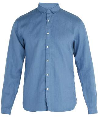 Oliver Spencer Tab-collar linen shirt