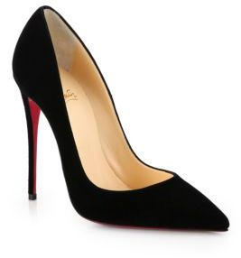 Christian Louboutin So Kate 120 Suede Point Toe Pumps $675 thestylecure.com