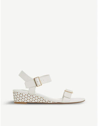 Dune Karinaa laser cut wedge sandals