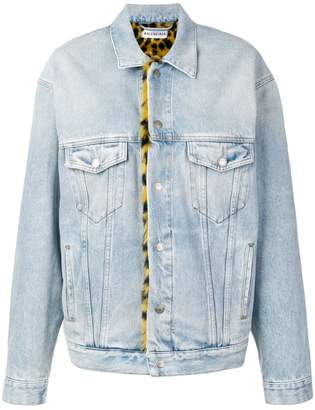 Balenciaga oversized denim jacket