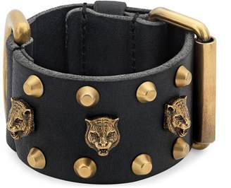 Gucci Leather cuff bracelet