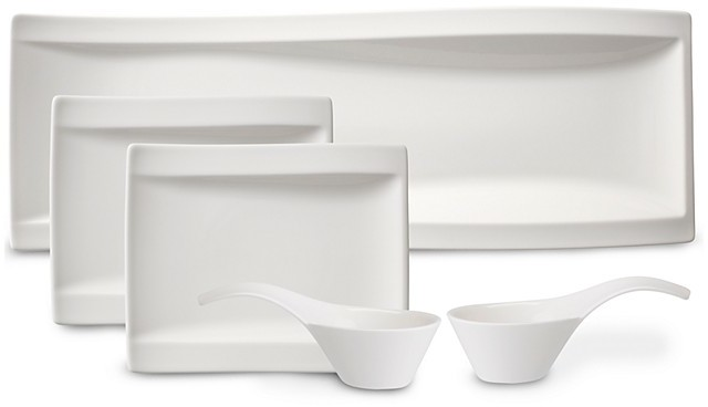Villeroy & Boch New Wave Antipasti Bowls & Plates, Set of 5