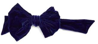 Maison Margiela Bow Embellished Velvet Belt - Womens - Blue