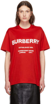 Burberry Red Hustley T-Shirt