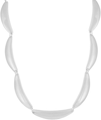 Sterling Scalloped Collar Necklace by Silver Style