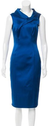 Karen Millen Satin Sheath Dress w/ Tags $95 thestylecure.com