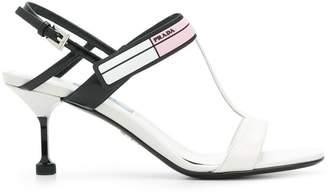Prada colourblock logo sandals