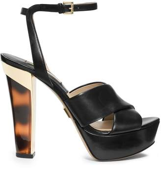 Michael Kors Shayden Tortoise Ankle-Strap Platform Sandal