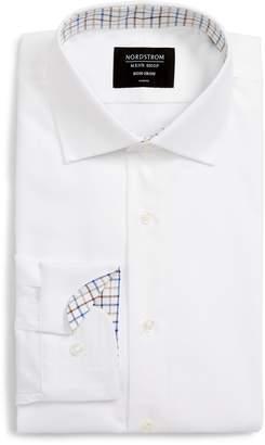 Nordstrom Trim Fit Non-Iron Herringbone Dress Shirt