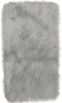 "Dynamix Home 41"" x 66"" Grey Artic Faux Fur Rug"